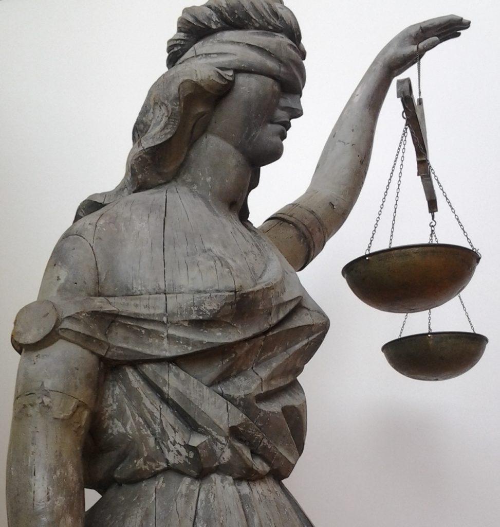 Justice sculpture, Shelburne Museum